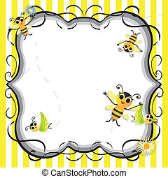 Cute bee baby shower party