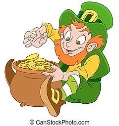 cute cartoon leprechaun St. Patrick