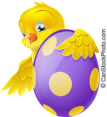 Cute chick and painted chocolate Ea