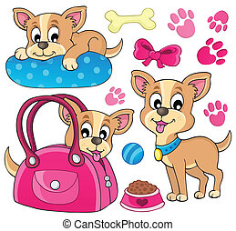 Cute dog theme image 1