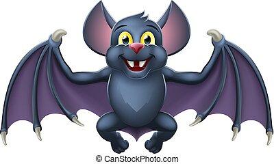 Cute Halloween Vampire Bat Animal Cartoon