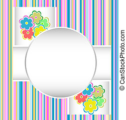 cute happy birthday card with flowers. vector