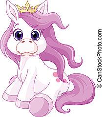 Illustration of cute horse princess