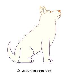 cute husky dog icon