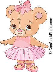 Cute Teddy Bear Ballerina