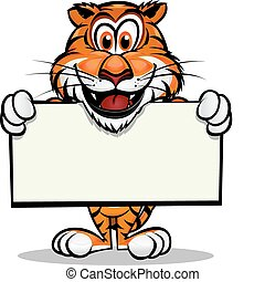 Cute Tiger Head Mascot. Separated into layers for easy editing.