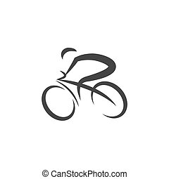 Cycling icon Vector Illustration design Logo