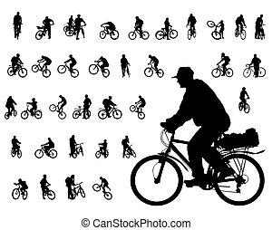Cyclist people