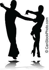 Dance silhouette - vector