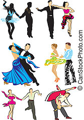 dancing silhouettes, latino dance, standard dance copetitive dance