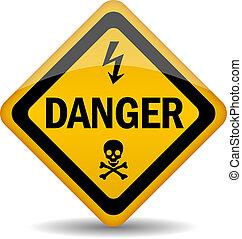 Vector danger warning sign