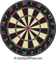 a dart board on a white background