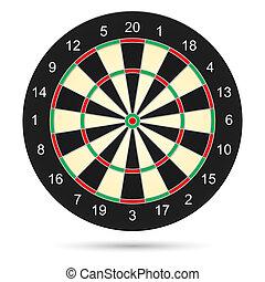 Realistic dartboard. Illustration on white background for creative design