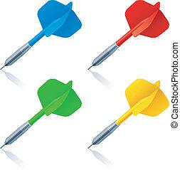 Set of 4 color darts.