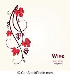 Decoration grape vine.