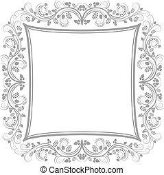 decorative floral border - clip art illustration