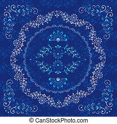 Decorative Floral Design Frame Elements