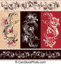 Decorative Floral Ornament Elements