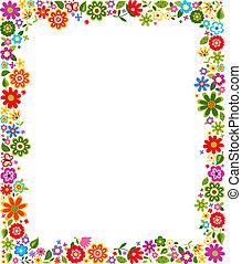 decorative floral pattern border frame