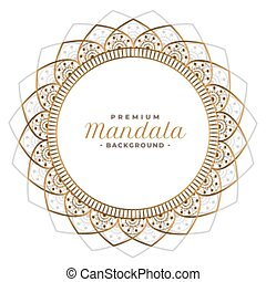 decorative mandala frame background design with text space