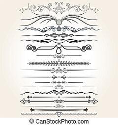 Decorative Rule Lines. Vector Design Elements