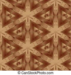 Decorative seamless patern brown wooden parquet