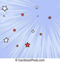 Decorative Stars Burst Background