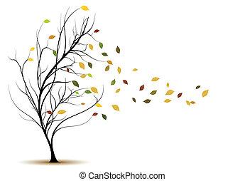decorative vector tree silhouette