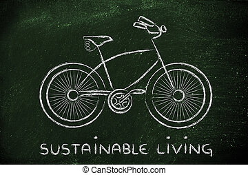 design of a bicycle, symbol of active and sustainable living