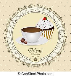 Vector dessert menu pattern
