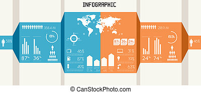 Detail infographics set. World Map and Information Graphics