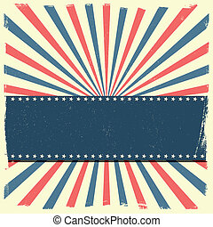 detailed illustration of a banner on a patriotic striped background, eps 10 vector