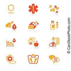 Diabetes icons || JUICY series