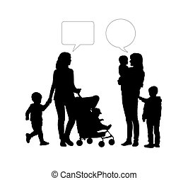 dialogue between two mothers of young children