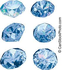 Diamonds isolated on white backgrou