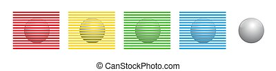 Different Colors Optical Illusion Lines Spheres Balls Orbs Same Color
