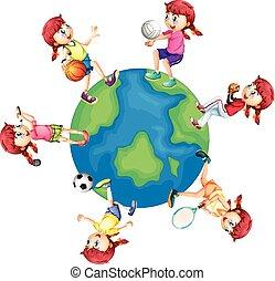 Different sports around the world