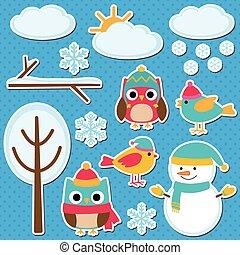 Different winter elements