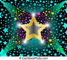 disco light shooting stars