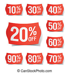 Vector illustration of discount price tags