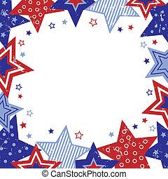 Distressed Stars Border Illustration