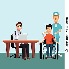 Doctor office cartoon