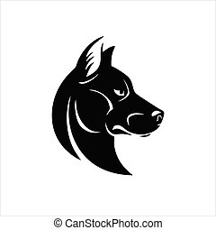 Dog head icon isolated on white background. Dog head icon in trendy design style.