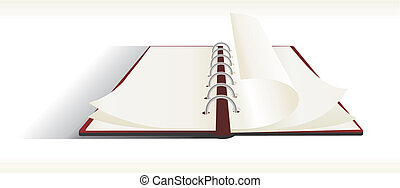 Double sided note pad - vector