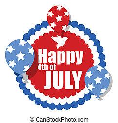 rosette shape banner - 4th of july
