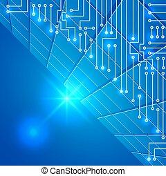 Drawing modern electronic circuit on cells pattern
