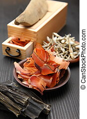 dried foods for Japanese soup stock