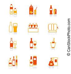 Drink bottle icons | JUICY series