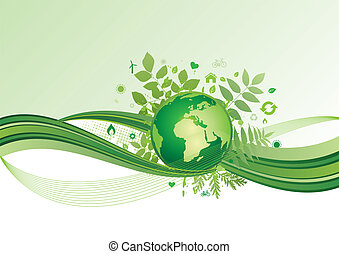 vector background of environment