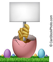 Easter Blank Sign